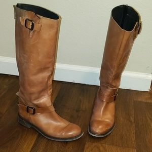 ALDO brown soft leather riding boots size 7